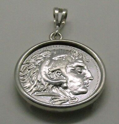 1/4 oz .999 Silver Round Alexander the Great Tetradrachm Plain Pendant medallion