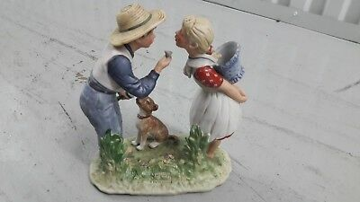 "Norman Rockwell - Four Seasons ""Spring...Beguiling Buttercup"" Porcelain Figurine"