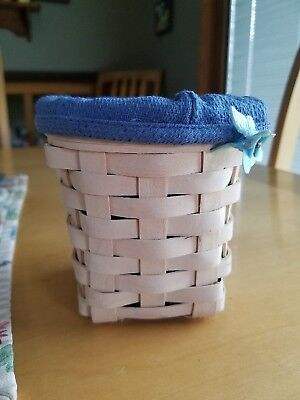 Longaberger 2002 Horizon of Hope Basket with Blue Liner Collector Collectable