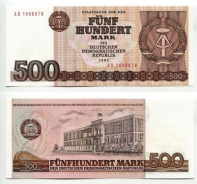 500 Mark DDR 1985 unc, Ros.365a
