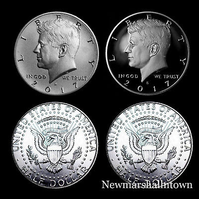2017 P+D+S+S Kennedy Half Dollar Mint Proof Set and Enhanced Edition