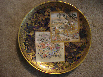 Superb Quality Japanese Satsuma Plate, Kinkozan, Meiji Period, C. 1900, Perfect!