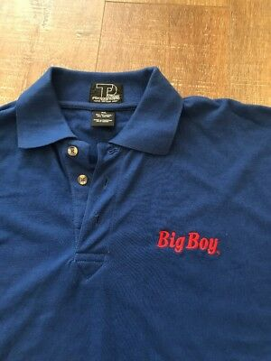 BOB'S BIG BOY restaurant Blue Uniform Top Shirt Size 2XL XXL