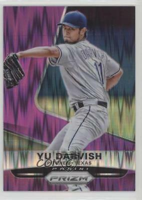 2015 Panini Prizm Purple Flash Prizms 152 Yu Darvish Texas Rangers Baseball Card