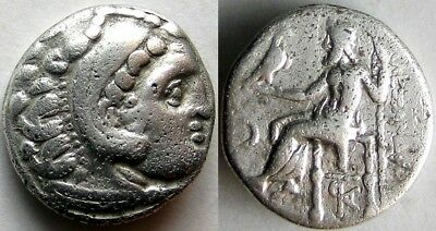 "Alexander III ""the Great"" _ 336-323 BC_silver Drachm"