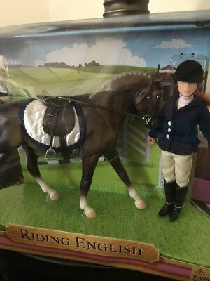 Breyer Riding English With Doll And Horse  New
