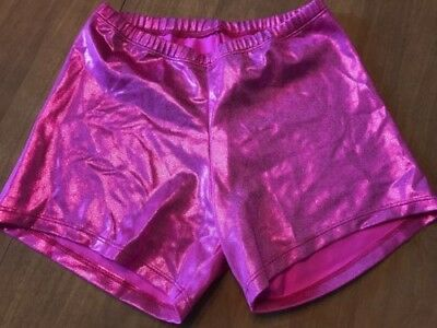 Curtain Call Adult Medium pink sparkley NWOT dance shorts booty Style E1247