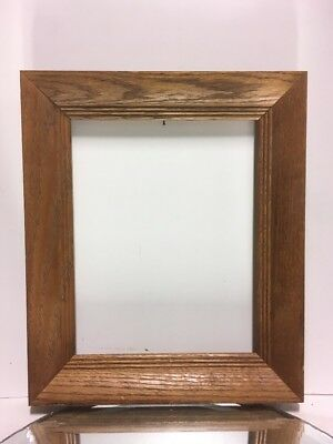 """VTG. Mid Century Arts and Crafts Mission OAK Picture Frame Fits 8""""x10"""""""