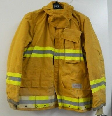 FYREPEL Firefighter Turnout Gear Bunker Padded Jacket Yellow Size MEDIUM