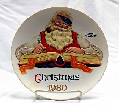 "Norman Rockwell Museum ""Limited Edition Annual Christmas Plates"" Set of 2"