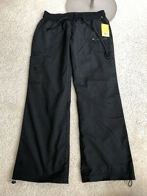 Nwt Green Town Womens XL Black Scrub Pants