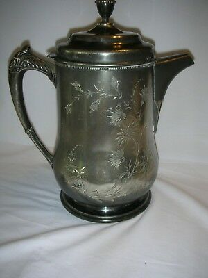Antique Victor Silver Co. Quadruple Plate Double Walled Ice Pitcher