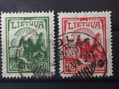 Scott #278 & 280-282 Lithuania Stamps Used Wm 238