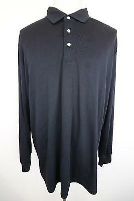 New Lands End Black Traditional Fit Mens Casual Polo Shirt Size XXL - TA8