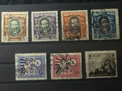 Scott #226-232 Lithuania Stamps Used