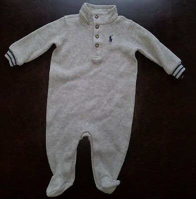 7bc723ea0 NEW POLO RALPH Lauren baby boys size.6 MONTHS baby footed coverall ...