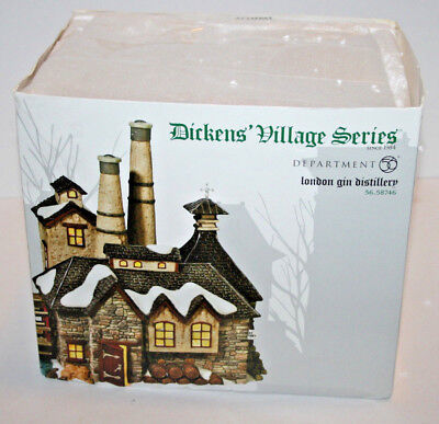 Department 56 Dickens Village Series London Gin Distillery 56 58746 New **READ*