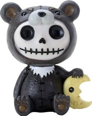 Furrybones Kuma Figurine Ornament Japanese Moon Bear Cute Cool Skeleton Gift Fun