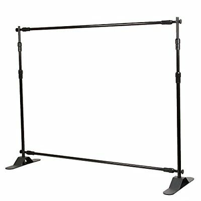 Flexzion Backdrop Stand - Telescopic Banner Stand 8'x8' Step and Repeat