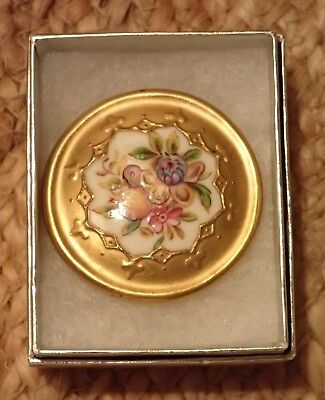 Large Antique English Hand Painted Coalport Button