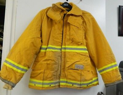 FYREPEL Firefighter Turnout Gear Bunker Padded Jacket Yellow Size LARGE #7