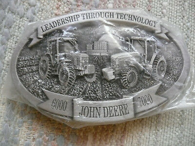 "John Deere ""Leadership Through Technology"" 6000 John Deere 7000 Belt Buckle New"