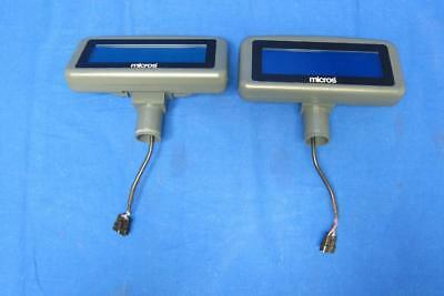 (Lot of 2) Micros LCD Pole Display 500827-007 - Display only, Pole not included