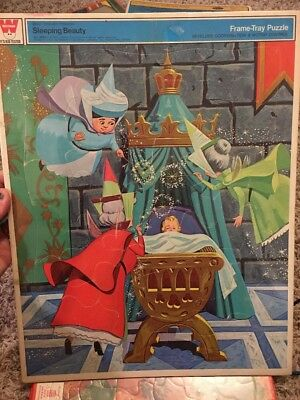 Walt Disney Sleeping Beauty Frame Tray Puzzle. Vintage. Whitman No 4506 NEW