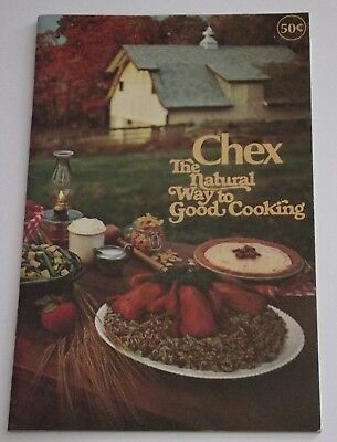 NEW 1970s 'Chex - The Natural Way to Good Cooking' Recipe Booklet Ralston-Purina