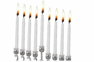 "44 Wax Colorful Hanukkah Candles in White Color 4"" T *"