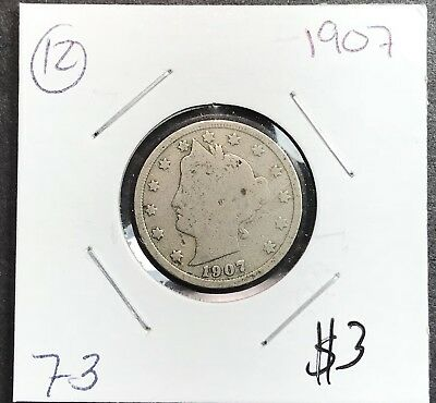 1907 Liberty V Nickel. Nice Collector Coin For Your Collection.12