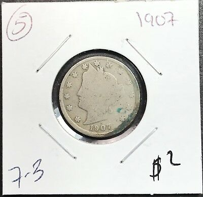 1907 Liberty V Nickel. Nice Collector Coin For Your Collection.5
