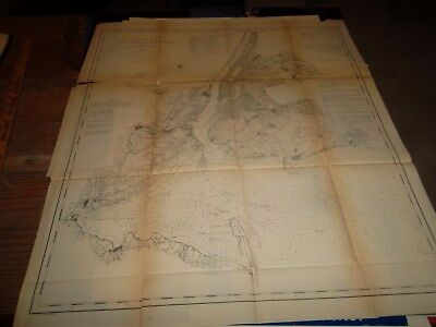 NEW YORK BAY & HARBOR  -  1861 MAP  -  29 X 23 Inches