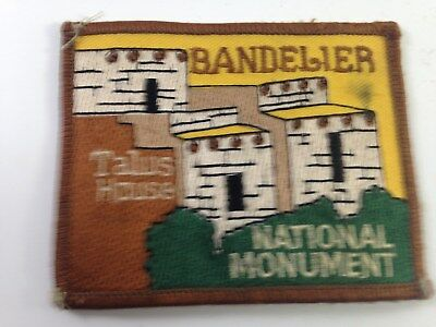 Vintage Embroidered Bandelier national Monument Travel Patch, Talus House