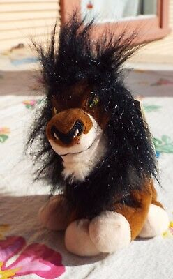 """Lion King SCAR 8"""" Bean Bag Plush Disney Store With Tag RETIRED RARE MUST SEE"""