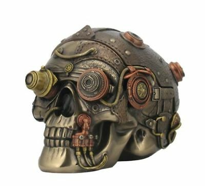 Steam Punk Steampunk Art Skull Trinket Box Veronese Bronze Figurine
