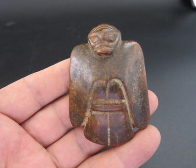 Ancient Chinese Hongshan Culture Old Jade eagle amulet Pendant A458
