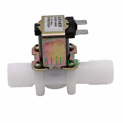 "1/2"" N/C AC220V Magnetic N/C Electric Solenoid Valve Water Air Inlet Flow Switch"