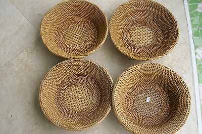 Old Large Asian Tribal Weaver Basket Sumbawa Island Rattan Detailed Collectible-