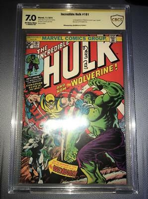 Incredible Hulk #181 CBCS Len Wein SS 7.0 OW/W - 1st Appearance of Wolverine