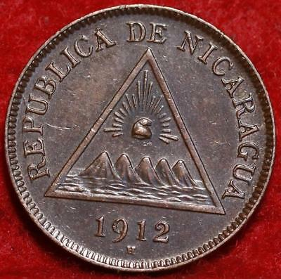1912-H Nicaragua Centavo Foreign Coin
