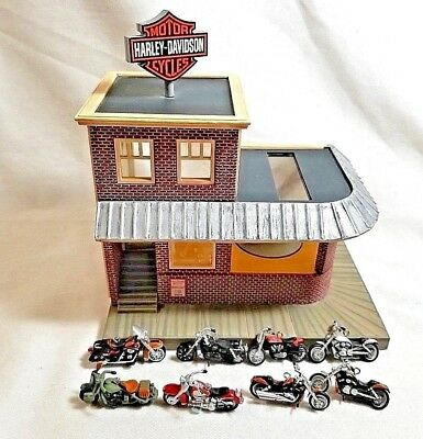 Harley Davidson Solar Powered More Than A Store Hallmark Display- 8 Motorcycles