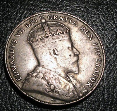Old Canadian Coins 1909 Newfoundland Canada Fifty Cents