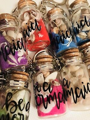 Keychain Shells  A Mermaid Keychain Lot Of 12, Wholesale lot beach shell sand