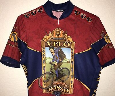 51f857b6e VINTAGE PEARL IZUMI Mens Medium Cycling Jersey Velo Rosso Beer Theme ...