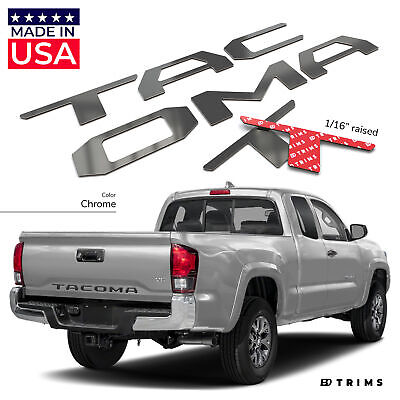 BDTrims | Chrome Tailgate Letters for Toyota Tacoma 2016-2019 Plastic Inserts