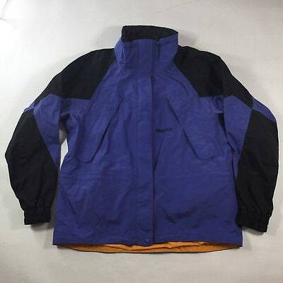 Marmot Women's XL GoreTex Parka Coat Jacket Purple/Orange Trim