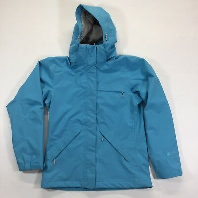 Mountain Equipment Co-op Women's M Blue Aqua Hooded Ski Shell Jacket