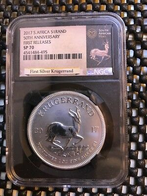 2017 South Africa S1 Rand Krugerrand First Releases SP 70 Black Retro Holder