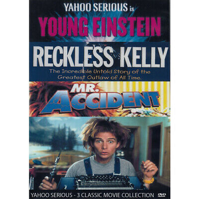 Young Einstein - Reckless Kelly  - Mr Accident - Yahoo Serious DVD = (MOD) Free